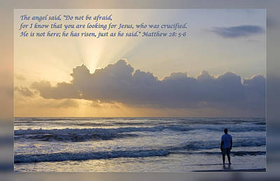 Matthew 28 5-6 Poster by Dawn Currie
