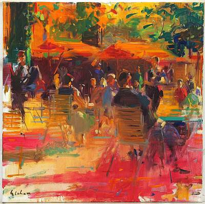 Maturing Sun, Paris Oil On Canvas Poster by Peter Graham