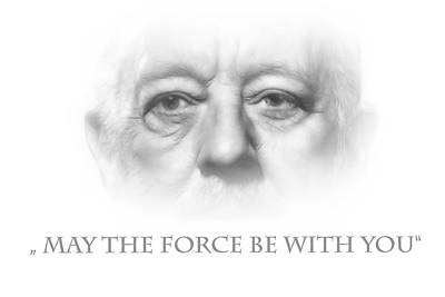May The Force Be With You Poster by Steve K