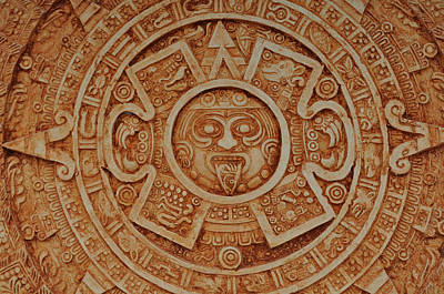 Mayan God Calendar  Poster by Brandon Bourdages