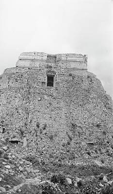 Mayan Temple Ruins Poster by American Philosophical Society