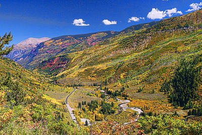 Mcclure Pass Scenic Overlook Poster by Allen Beatty