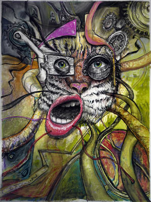 Mechanical Tiger Girl Poster by Frank Robert Dixon