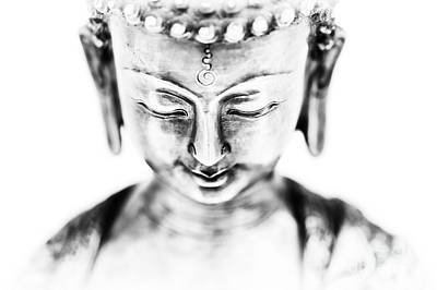 Medicine Buddha Monochrome Poster by Tim Gainey