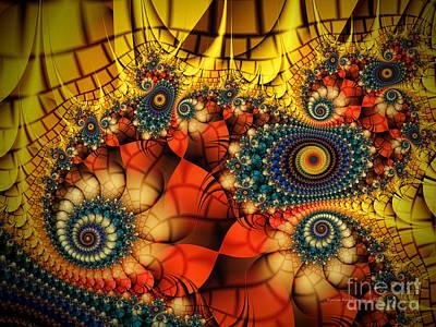 Medieval Ceremonial-fractal Art Poster by Karin Kuhlmann