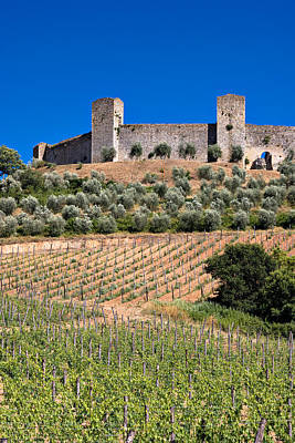Medieval Walled Village Of Monteriggioni Chianti Tuscany Italy Poster by Mathew Lodge