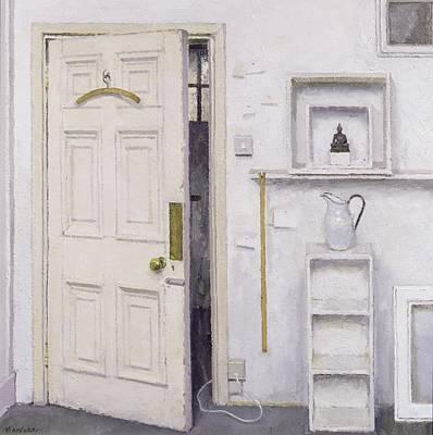 Meditation On A Door I Poster by Charles E Hardaker