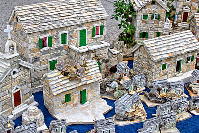 Mediterranean Style Stone Village Model Poster by Dalibor Brlek