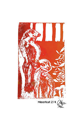 Meerkat 2/4           Poster by Alyssa Decker