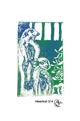 Meerkat 3/4    Poster by Alyssa Decker