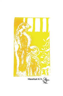 Meerkat 4/4    Poster by Alyssa Decker