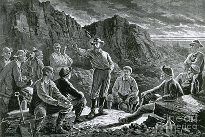Meeting Of The Molly Maguires, 1874 Poster by Photo Researchers
