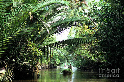 Mekong Delta Backwater 01 Poster by Rick Piper Photography