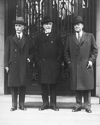 Mellon, Norman, And Meyer Poster by Underwood Archives