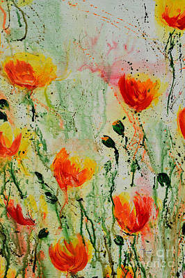 Melody Of Spring- Flower Poster by Ismeta Gruenwald