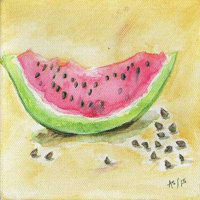 Melon Poster by Anne Seay