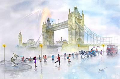 Memories Of London Bridge England Poster by John YATO