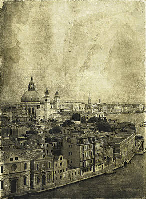 Memories Of Old Venice Poster by Julie Palencia