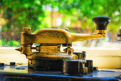 Memphis Trolley Detail - Brass Handle Poster by Jon Woodhams