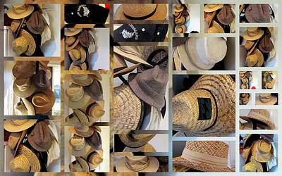 Mens Hats Poster by Joyce Woodhouse