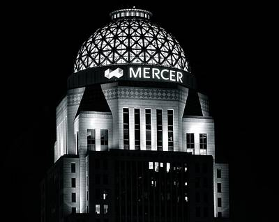 Mercer Building In Black And White Poster by Frozen in Time Fine Art Photography