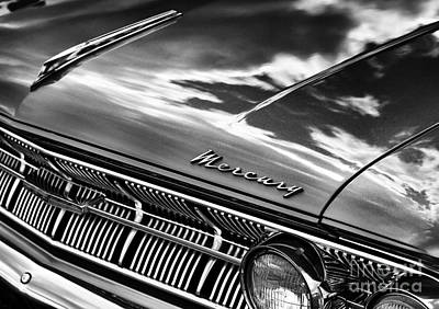 Ford Motor Company Poster featuring the photograph Mercury Monochrome by Tim Gainey
