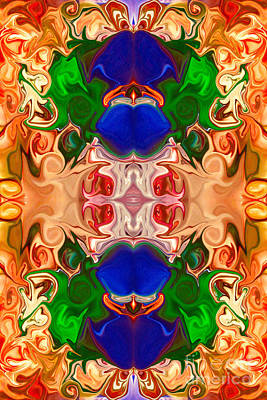Merging Consciousness With Abstract Artwork By Omaste Witkowski  Poster by Omaste Witkowski