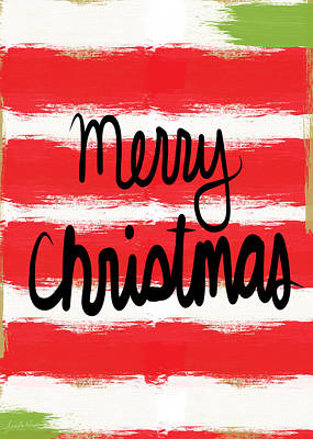 Merry Christmas- Greeting Card Poster by Linda Woods