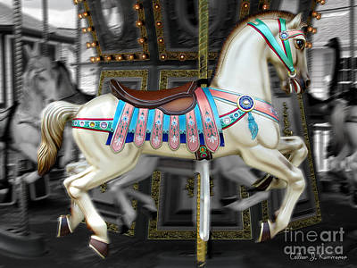 Merry Go Round Poster by Colleen Kammerer