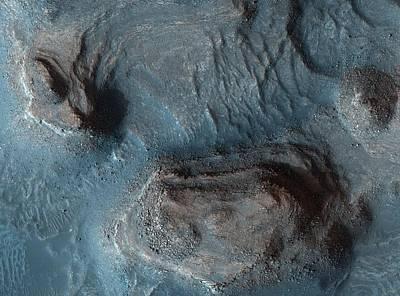 Mesas In The Nilosyrtis Mensae Region Of Mars Poster by Celestial Images