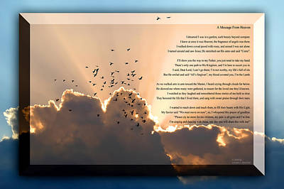 Message From Heaven Poster by Carolyn Marshall