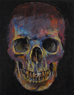 Skull Poster by Michael Creese
