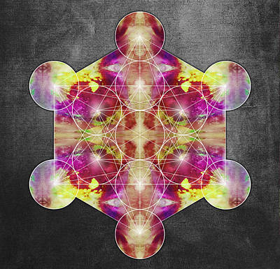 Metatron's Cube Red Poster by Filippo B