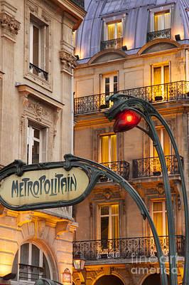 Metro Stop Saint Michel Poster by Brian Jannsen