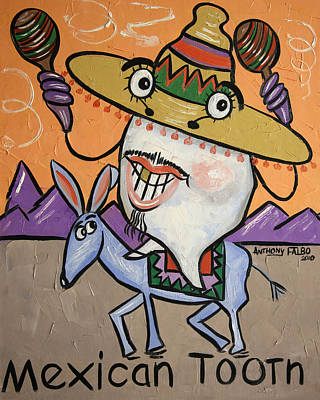 Mexican Tooth Poster by Anthony Falbo