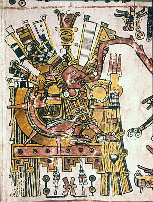 Mexico Sun God, C1450 Poster by Granger