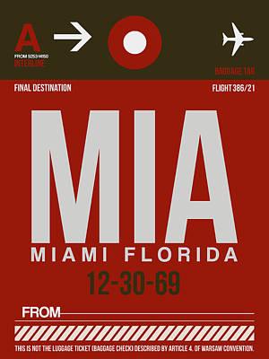 Mia Miami Airport Poster 4 Poster by Naxart Studio