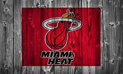 Miami Heat Barn Door Poster by Dan Sproul