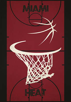 Miami Heat Court Poster by Joe Hamilton