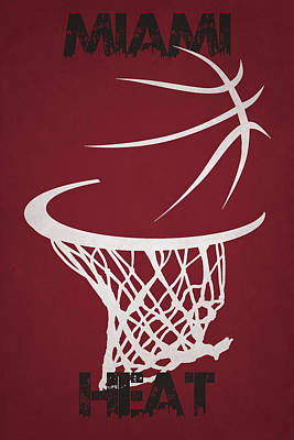 Miami Heat Hoop Poster by Joe Hamilton