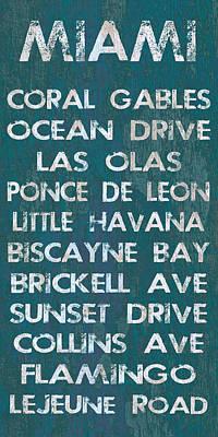 Miami Poster by Jaime Friedman