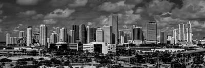Miami Skyline 001 Poster by Lance Vaughn