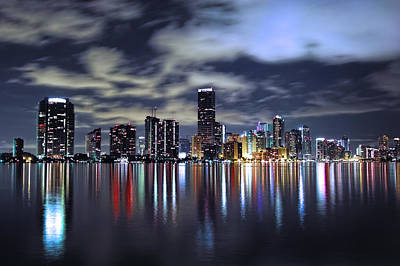 Miami Skyline Poster by Gary Dean Mercer Clark