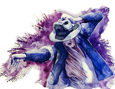 Michael Jackson 10 Poster by Bekim Art