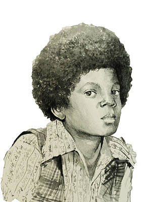 Michael Jackson 5 Poster by Bekim Art