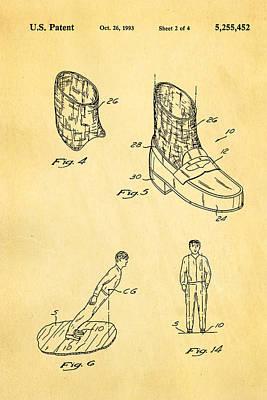 Michael Jackson Anti Gravity Boot 2 Patent Art 1993 Poster by Ian Monk