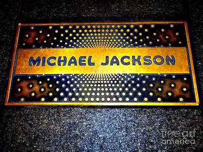 Michael Jackson Apollo Walk Of Fame Poster by Ed Weidman