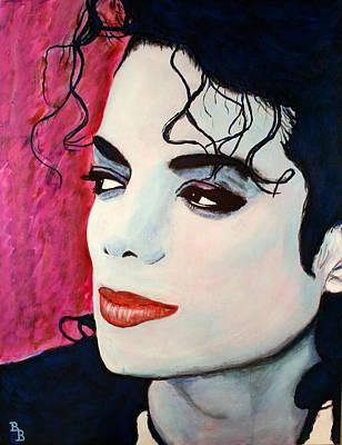 Michael Jackson Art - Full Color Poster by Bob Baker