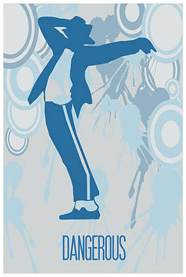 Michael Jackson Dangerous Poster Poster by Florian Rodarte