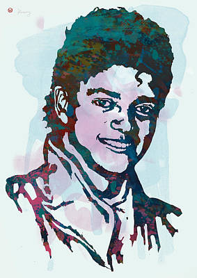 Michael Jackson Stylised Pop Art Poster Poster by Kim Wang